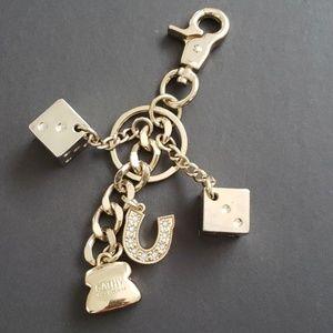Gold Kathy Van Zeeland Key chain